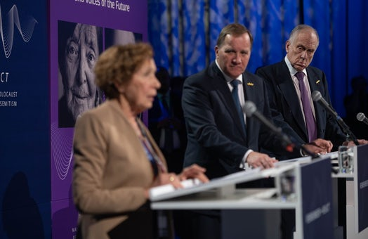 WJC President delivers joint press conference with Swedish PM Löfven