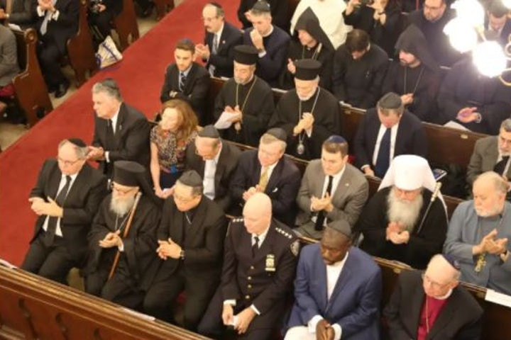 FBI New York assistant director , NYPD commissioner meet with WJC Honorary Vice-President Rabbi Arthur Schneier to discuss increasing antisemitism