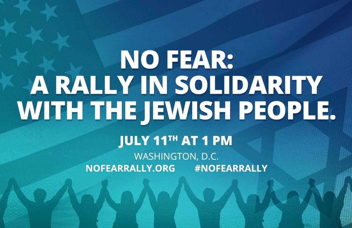 World Jewish Congress North America urges participation in No Fear: A Rally in Solidarity with the Jewish People