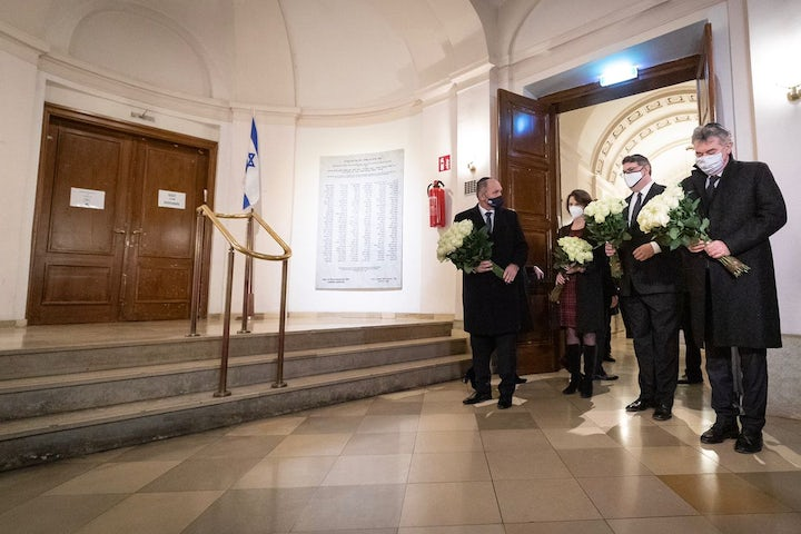 Jewish leaders in Vienna gather to commemorate Kristallnacht