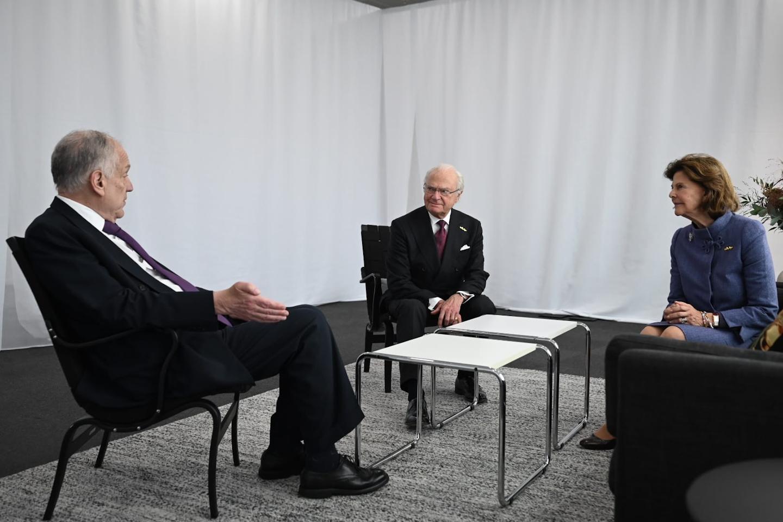 WJC President Ronald S. Lauder with Sweden's King Carl XVI Gustaf and Queen Silvia (c) World Jewish Congress / Shahar Azran