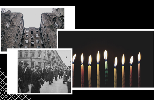 The first Hanukkah in the Warsaw Ghetto