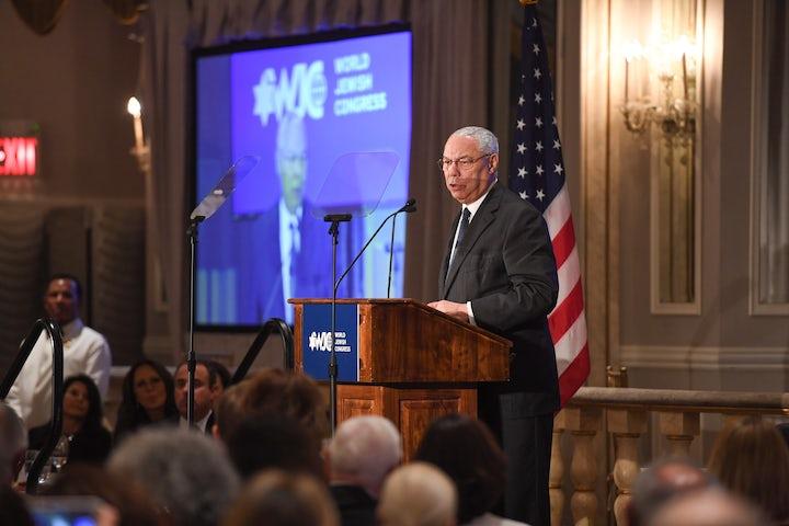 World Jewish Congress President Ronald S. Lauder mourns former U.S. Secretary of State Colin Powell