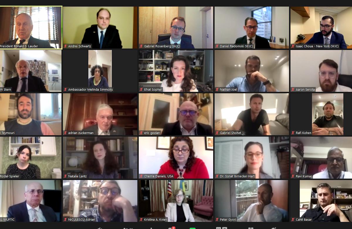 WJC Jewish Diplomatic Corps organizes virtual Passover event