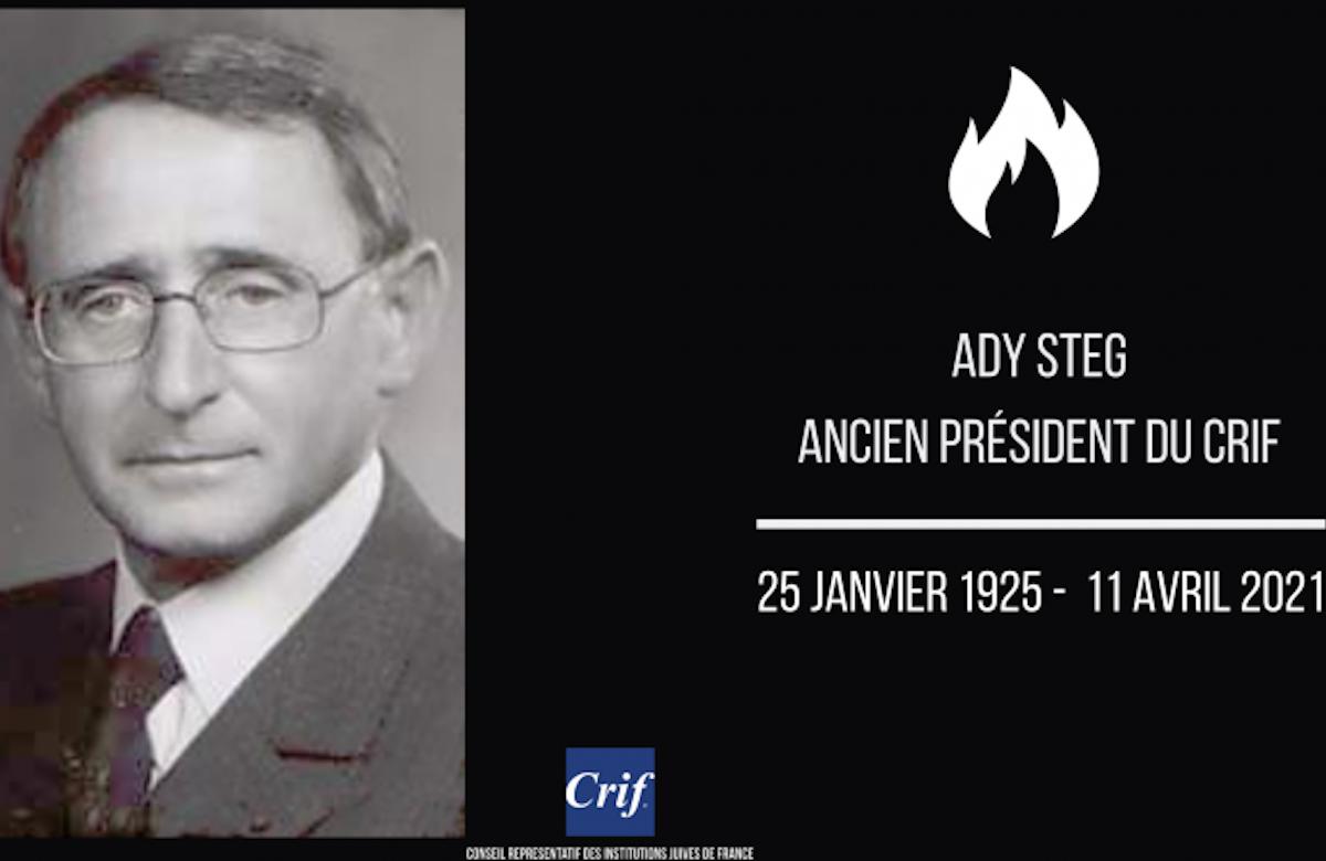 World Jewish Congress mourns the passing of Ady Steg