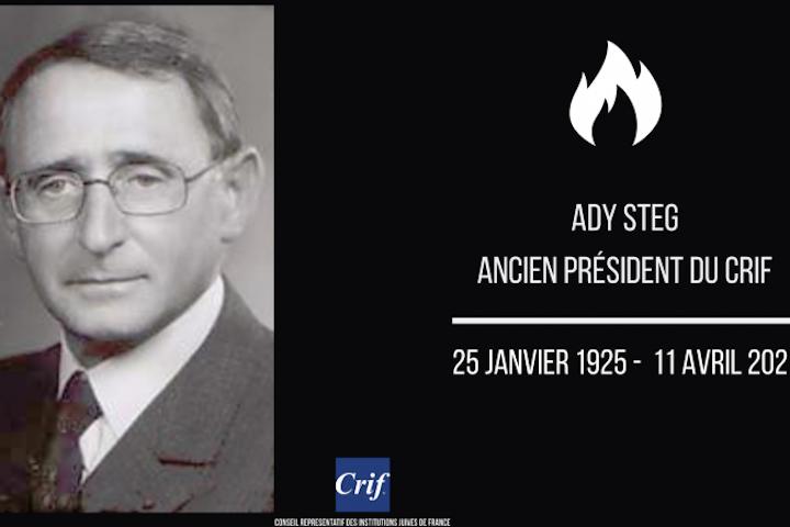Le Congrès juif mondial pleure le décès d'Ady Steg