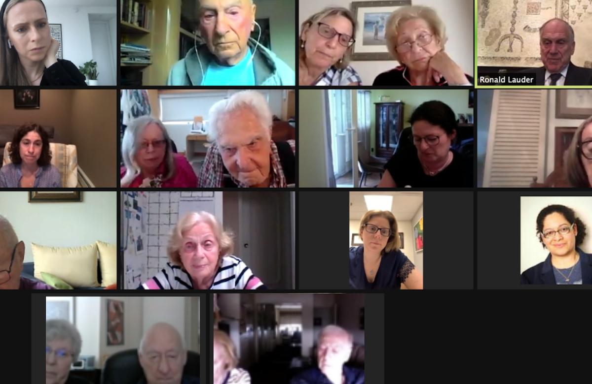 As the COVID-19 pandemic recedes, Auschwitz-Birkenau Survivors gather again for an online reunion