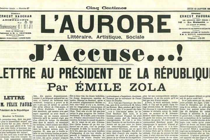 This week in Jewish history | Émile Zola accuses French government of covering up mistaken conviction of Dreyfus