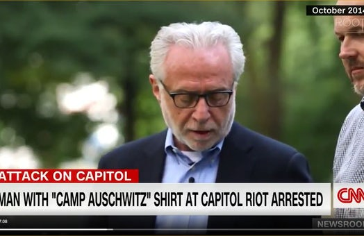 CNN's Wolf Blitzer describes painful associations 'Camp Auschwitz' T-shirt