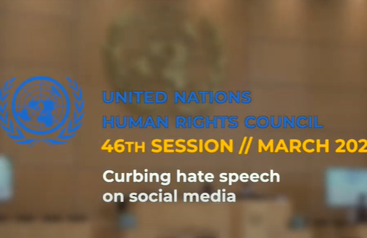 WJC @ UNHRC 46: Curbing hate speech on social media