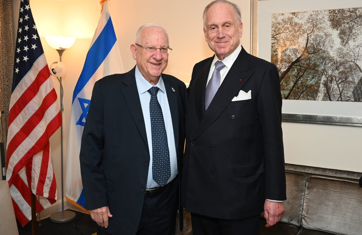 World Jewish Congress President Lauder thanks Israeli President Rivlin  for his years of service to the State of Israel and the Jewish people