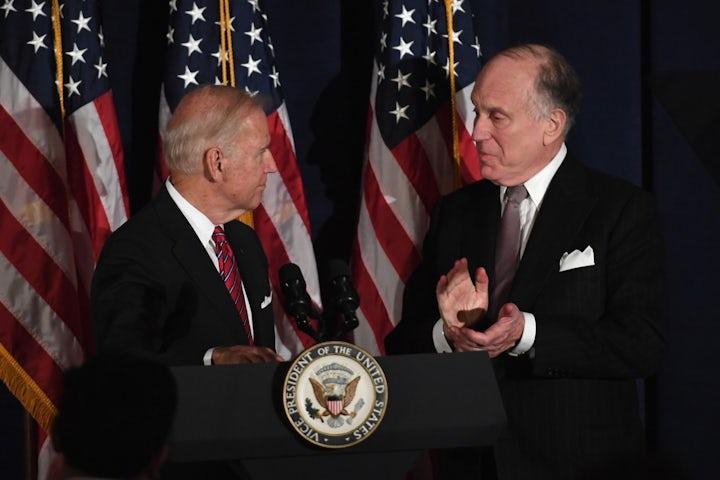 WJC President Ronald S. Lauder extends congratulations to U.S. President-elect Joe Biden