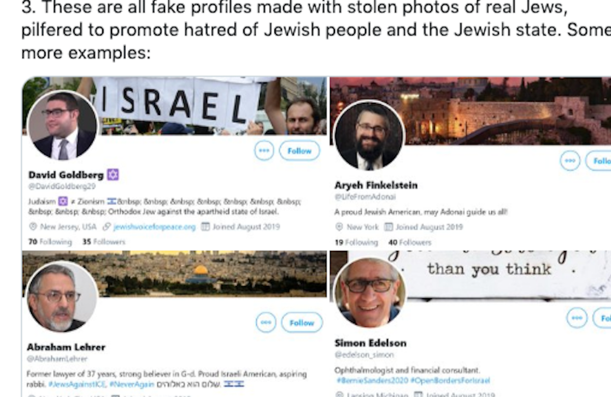 Fake Twitter accounts are impersonating Jews and promoting