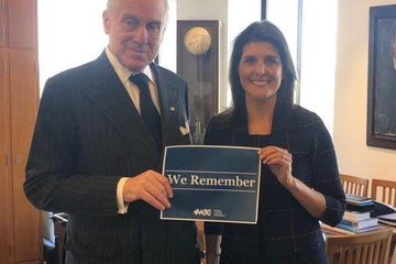 Former US Ambassador to the UN H.E. Nikki Haley to be honored with prestigious 2019 WJC Theodor Herzl Award