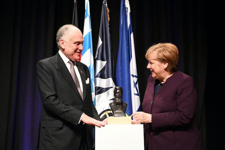 WJC honors German Chancellor Angela Merkel with 2019 WJC Theodor Herzl Award