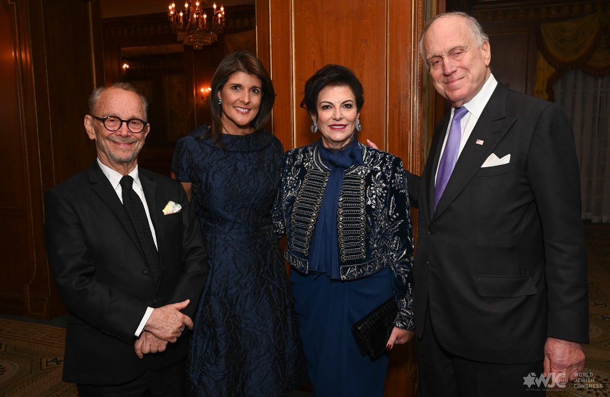WJC honors former US Ambassador to UN Nikki Haley with prestigious Theodor Herzl Award