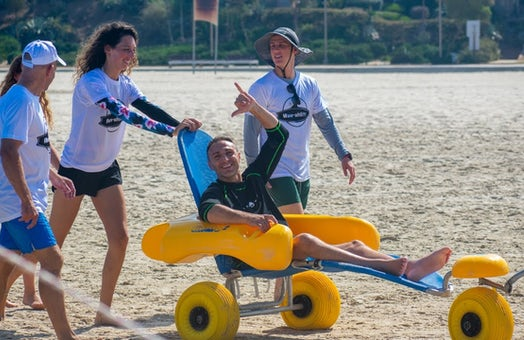 """Israel's """"Wave-ability"""" project offers disabled chance to catch the waves"""