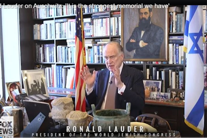 WJC President Ronald S. Lauder on Fox News