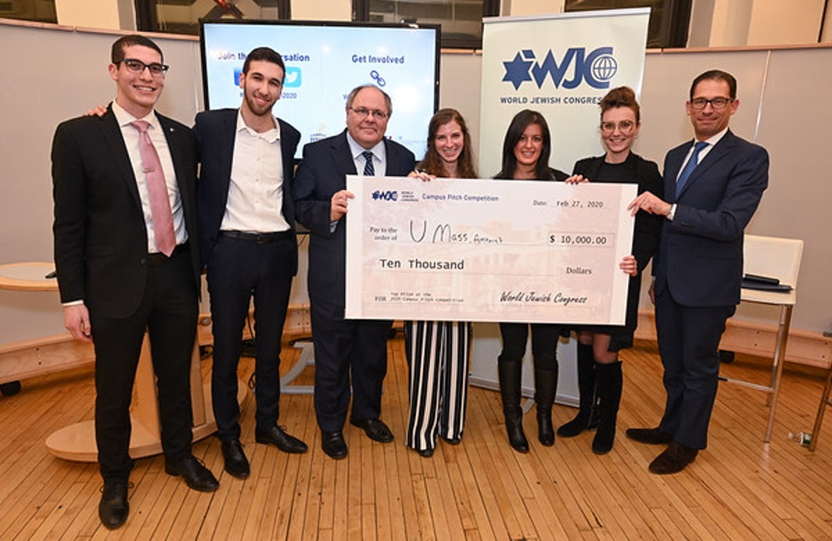 UMass student wins WJC's 2020 Campus Pitch Competition with proposal to bring images of Israel to life, in living color