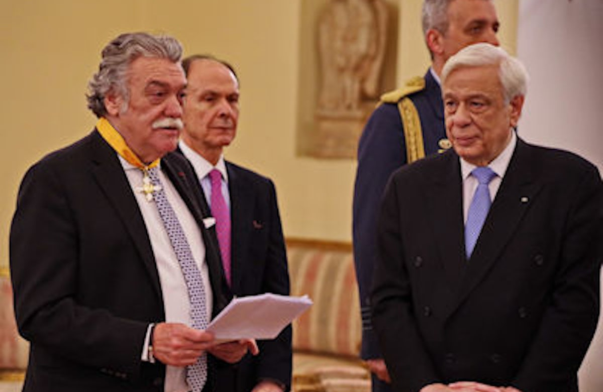Greece Jewish community president honored with Order of the Phoenix, one of the country's highest honors