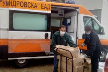 WJC affiliate in Bulgaria helping to provide food and supplies to families and medical professionals