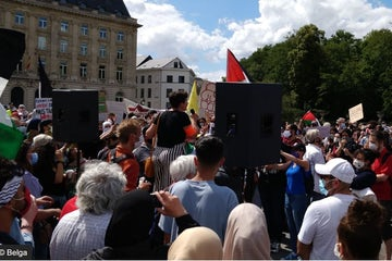 Anti-Israel protesters in Brussels call for violence against Jews