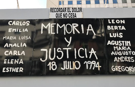 Remembering the victims of the AMIA bombing