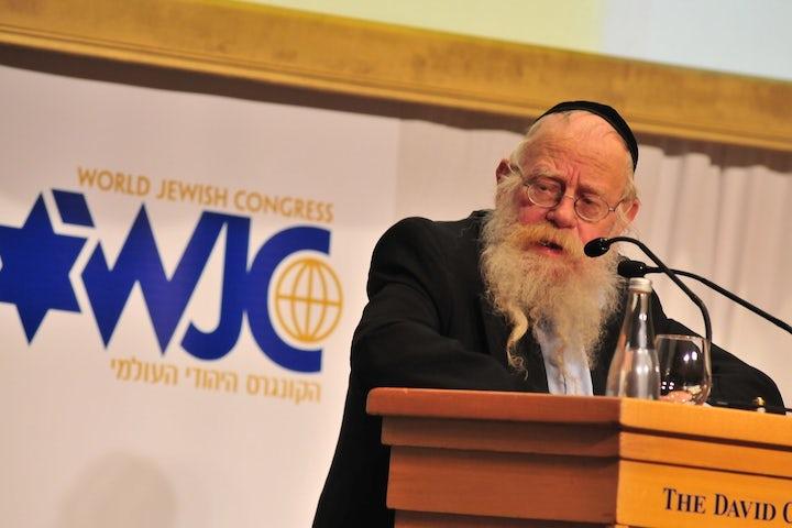 The World Jewish Congress mourns the death of Rabbi Adin Steinsaltz