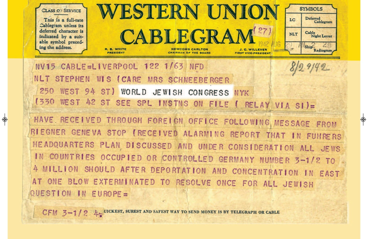 This week in Jewish history | Riegner Telegram alerts world of Holocaust
