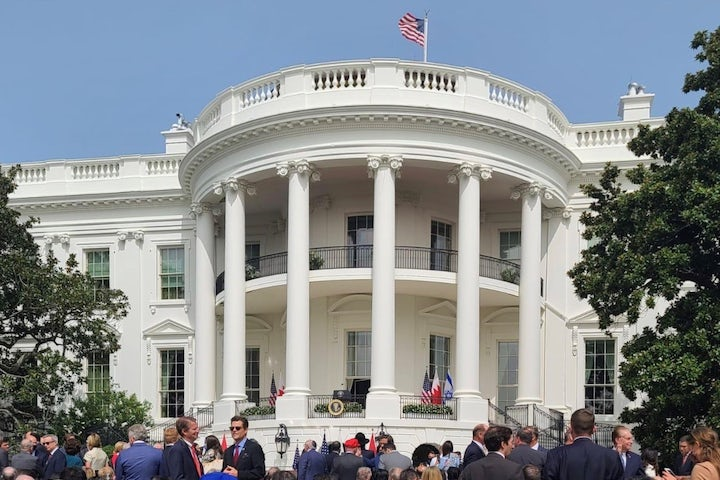 Ronald S. Lauder at White House for signing of historic agreements between Israel, UAE, and Bahrain