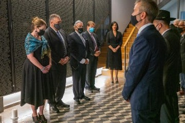 US Secretary of State Mike Pompeo visits the Jewish Museum of Thessaloniki