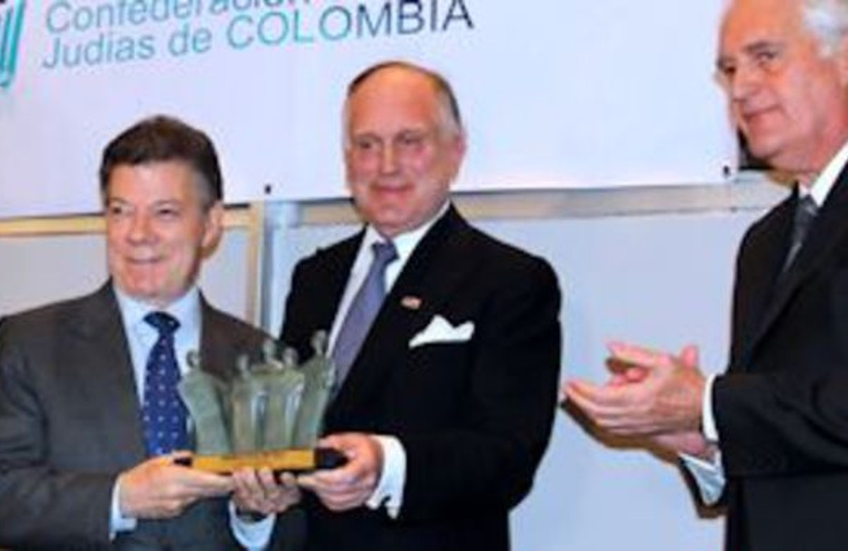 Colombian leader says world must recognize Israel as state of Jewish people