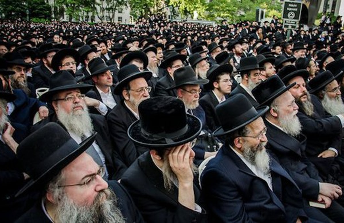 Ultra-Orthodox Jews in New York rally against Israeli army draft plans