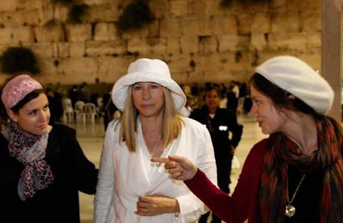 Barbra Streisand Wades Into Israeli Controversy About Role Of Women World Jewish Congress