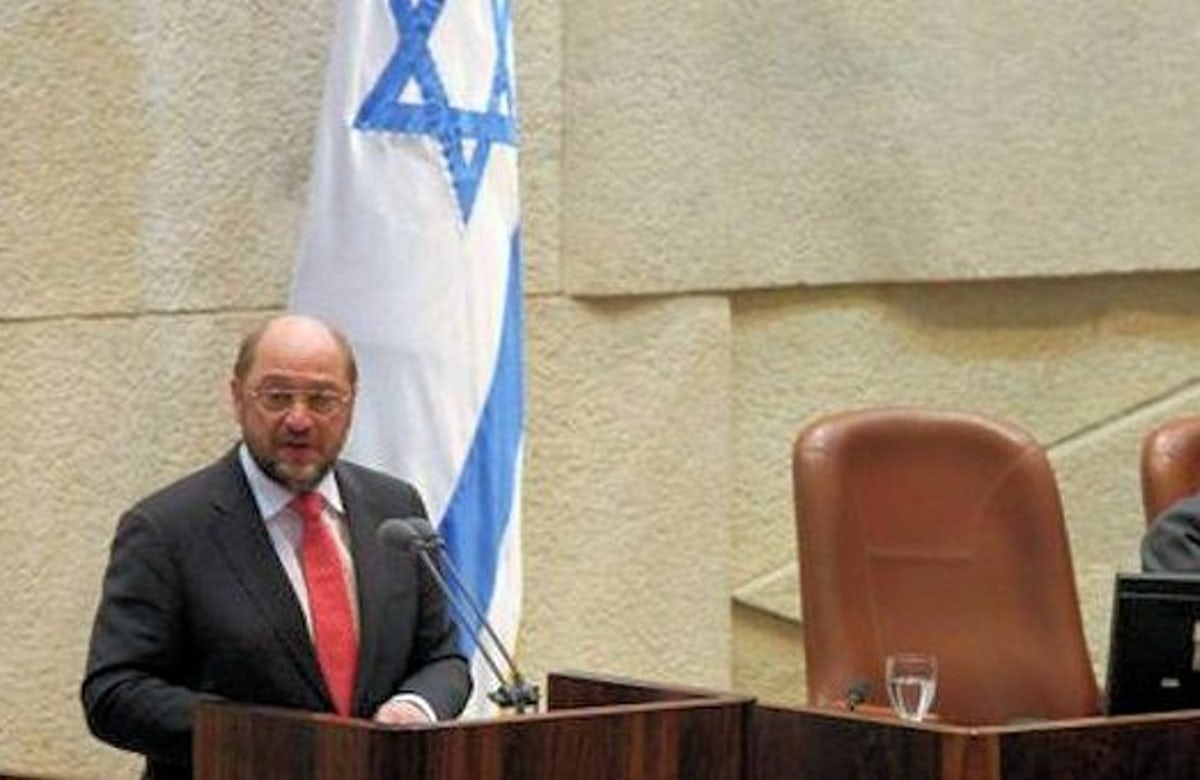 Several Israeli lawmakers walk out of Knesset chamber during EU leader's speech