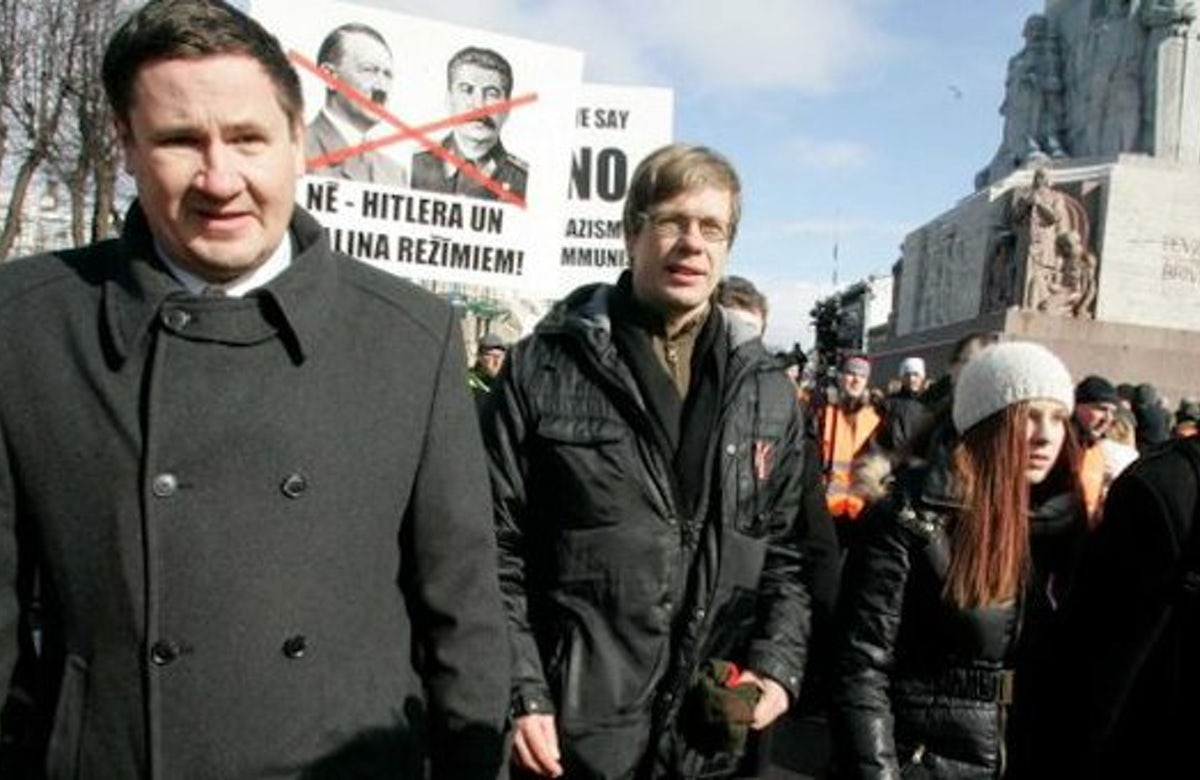 Latvian minister fired after defying government ban to attend SS veterans' march