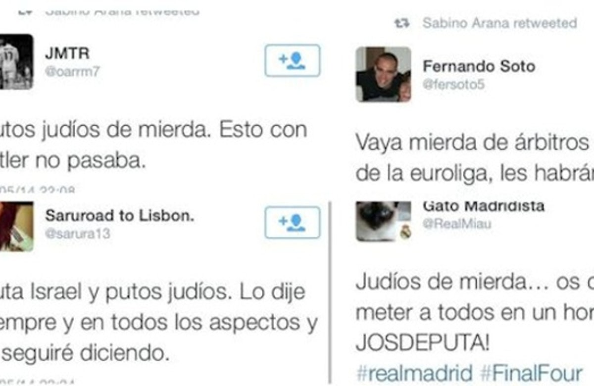 Spanish Jews take legal action against wave of anti-Semitic messages on Twitter