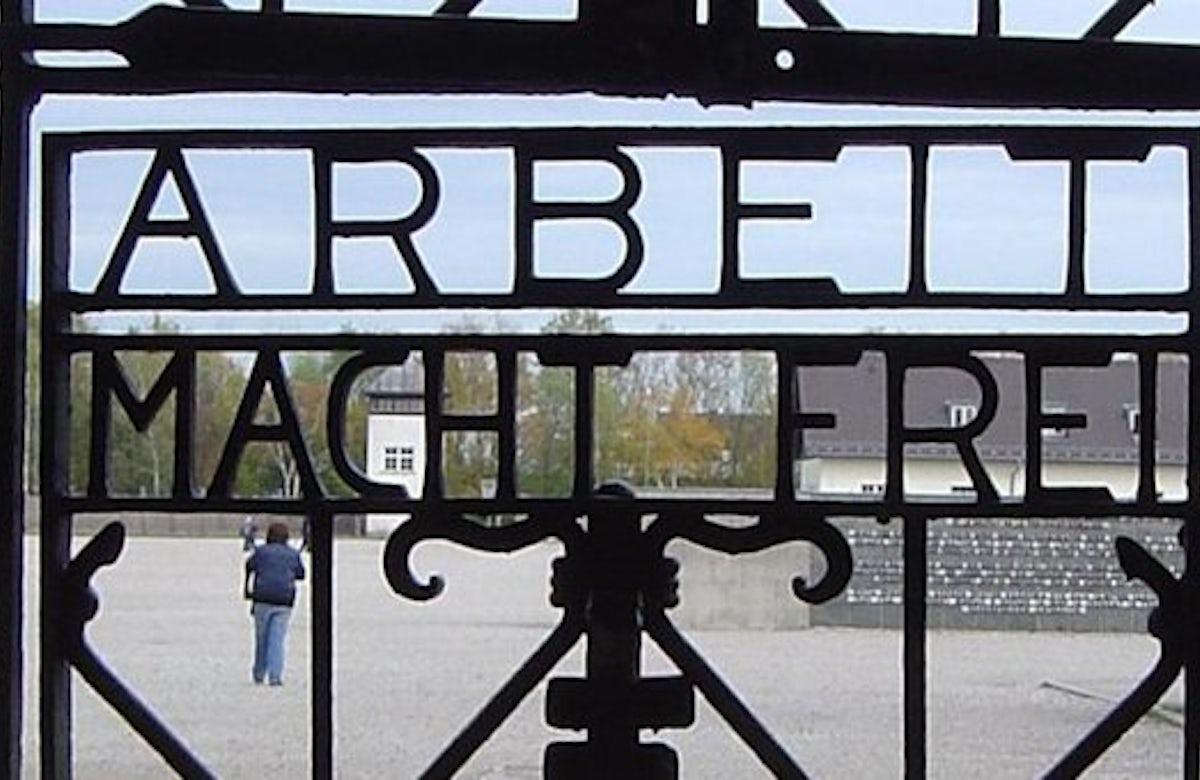 'Arbeit macht frei' sign at former Nazi camp Dachau stolen