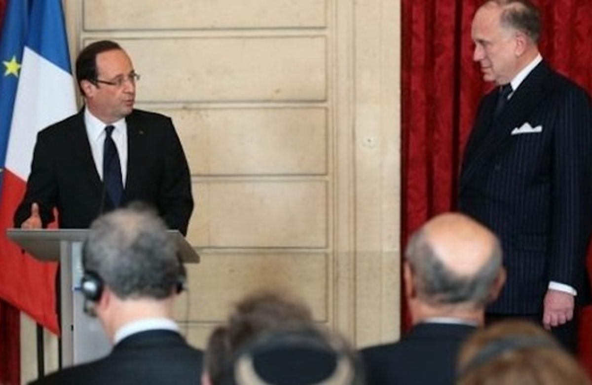 As millions rally against terror, Lauder confers with France's Hollande, Egypt's al-Sisi and Israel's Netanyahu