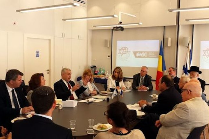 Romanian minister hosted by Israel Council on Foreign Relations and WJC in Jerusalem