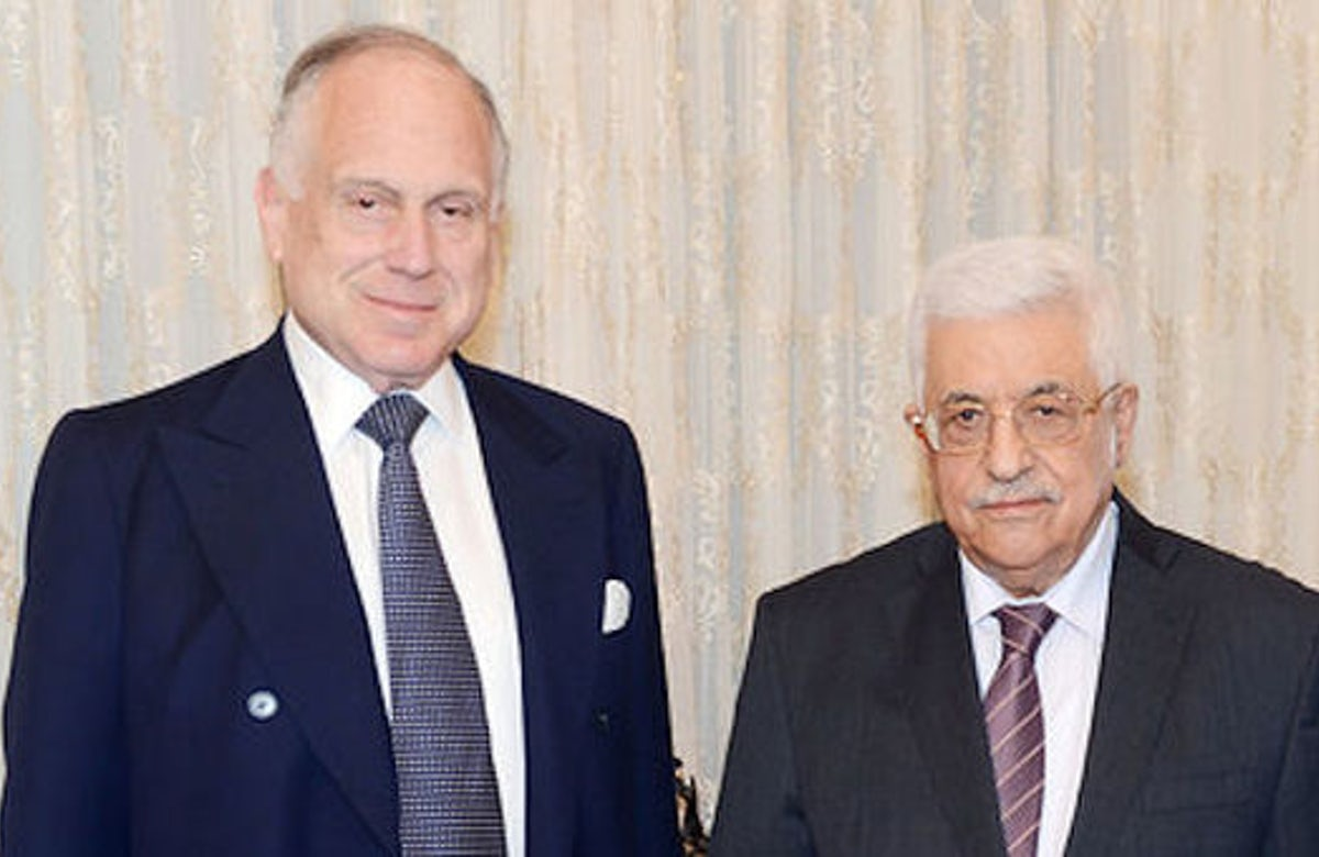 Ronald Lauder meets with Mahmoud Abbas to discuss peace process