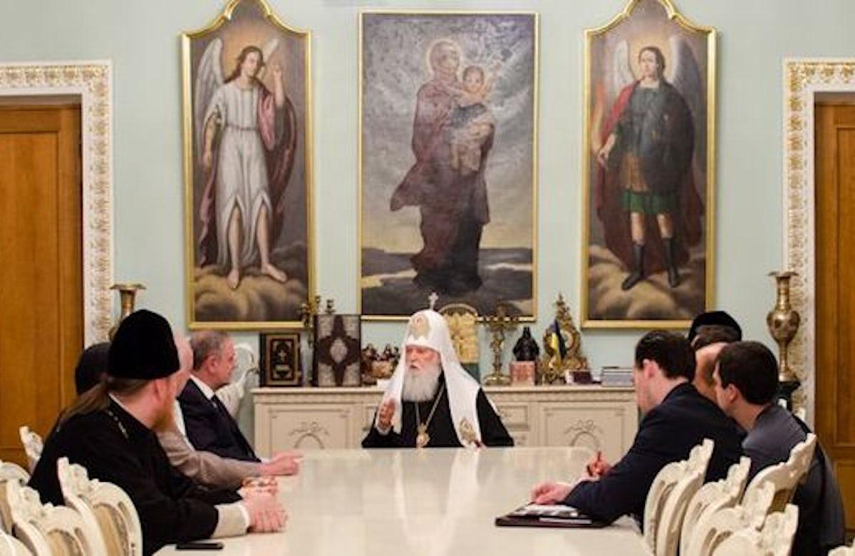 Ukrainian Patriarch Filaret condemns anti-Semitism at meeting with WJC leaders in Kiev