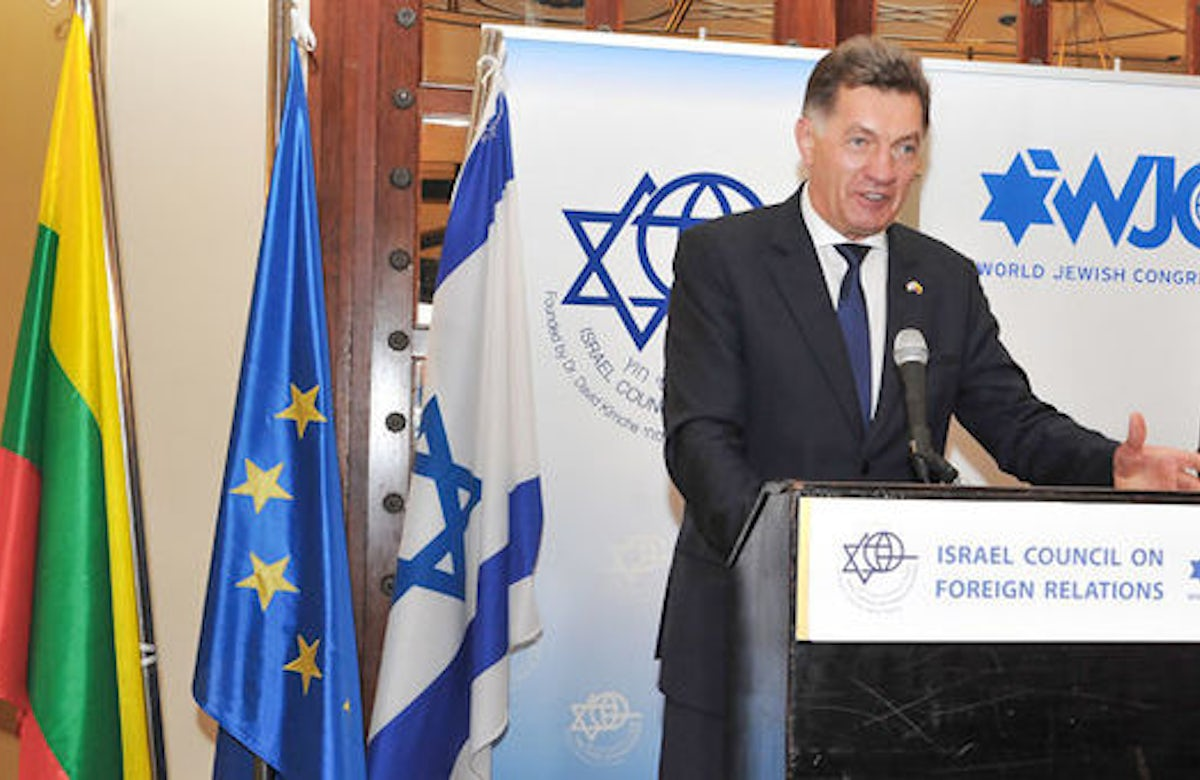 'By 2017, all Jewish graves will be marked, memorialized and maintained,' Lithuanian PM pledges