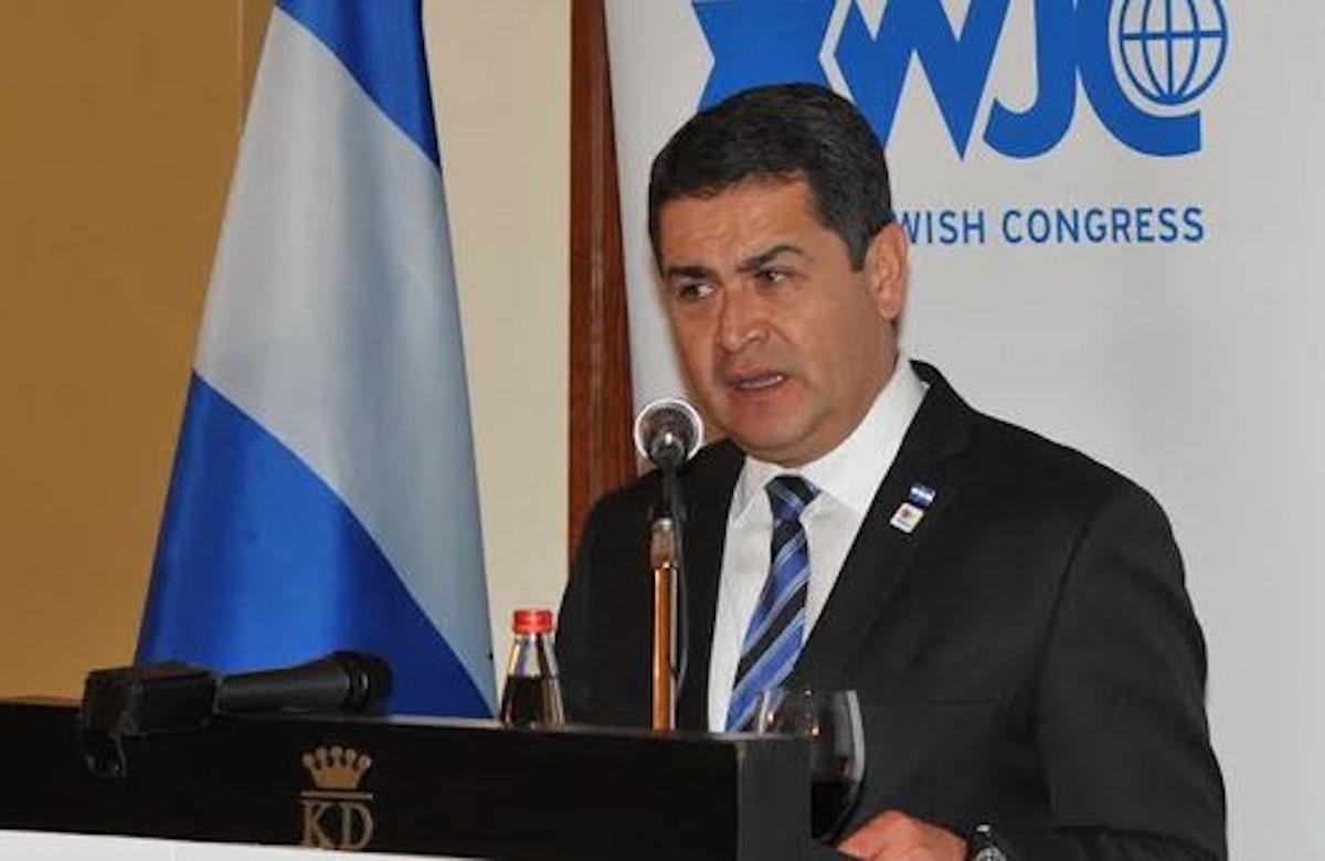 'As long as I'm president, Honduras will stand behind Israel'