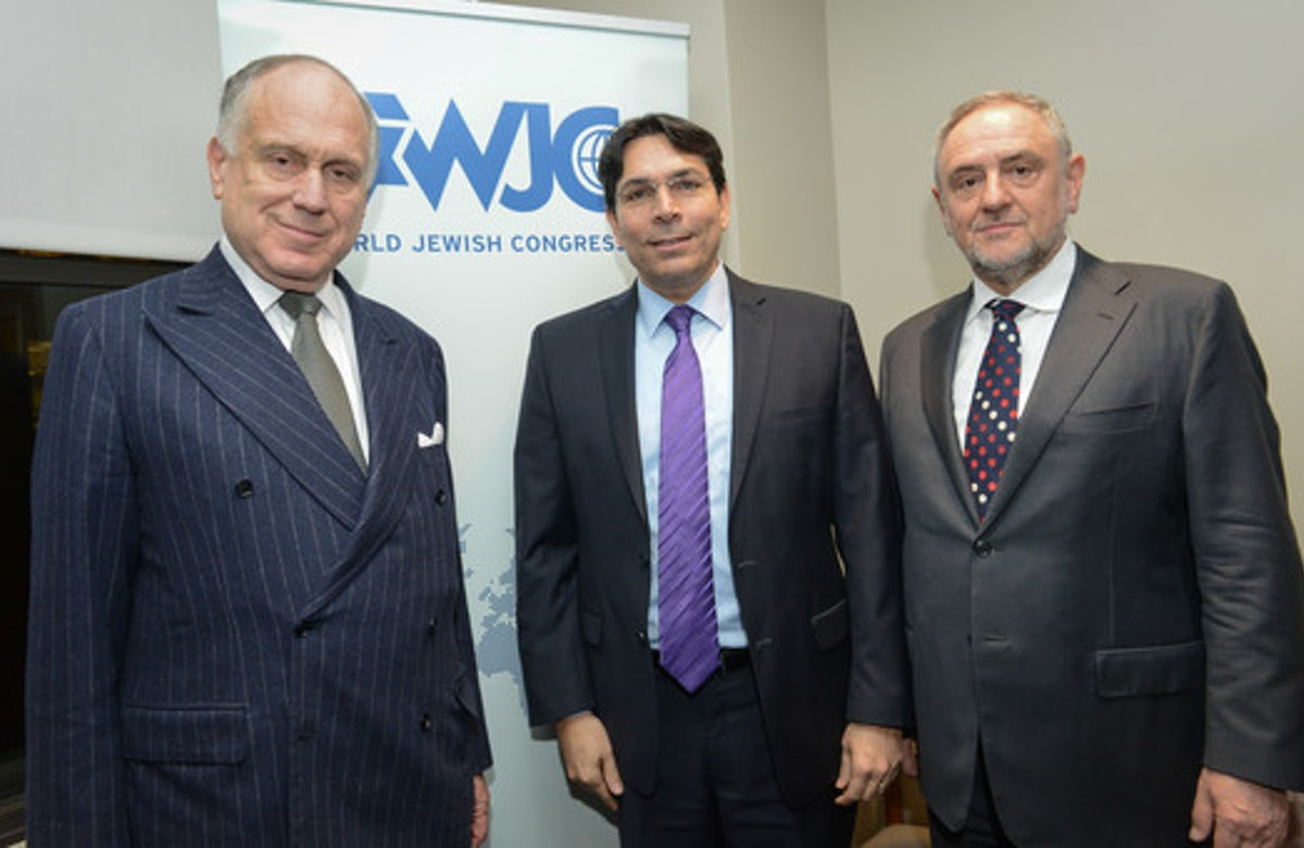 WJC President Ronald Lauder welcomes Israel's envoy to UN, Danny Danon: This is a man who stands up for Israel