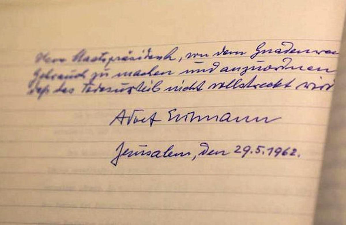 Israel publishes Nazi war criminal Adolf Eichmann's pardon request