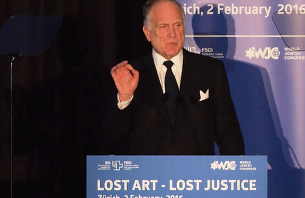 Remarks by Ronald S. Lauder in Zurich: 'A crime committed 80 years ago continues to stain the world of art today'