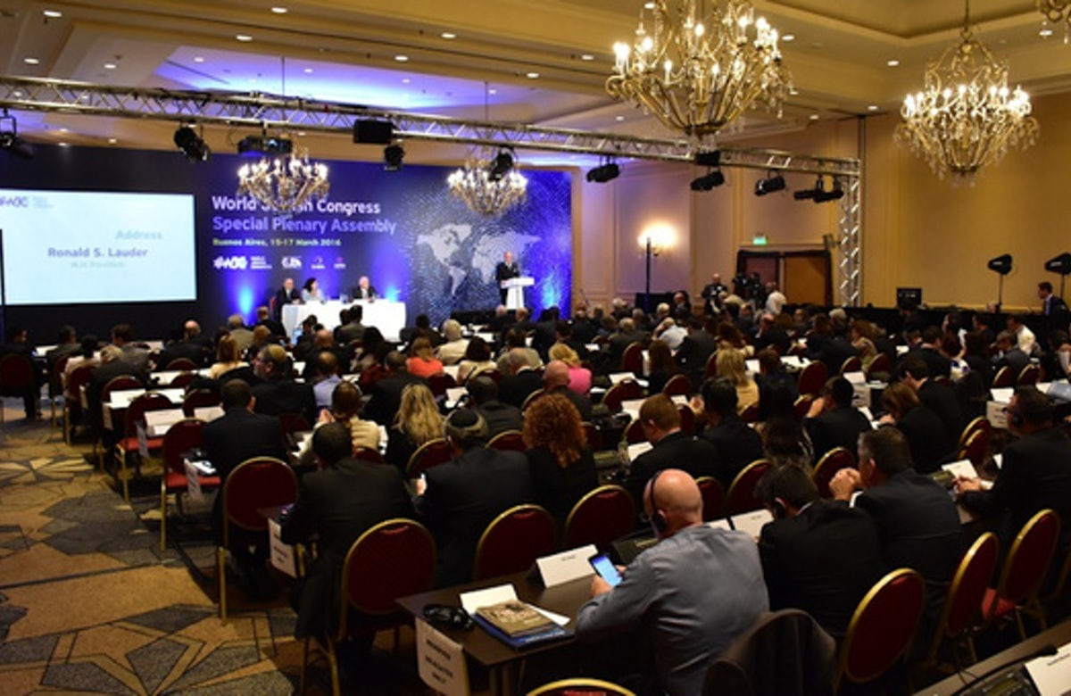 World Jewish Congress assembly condemns BDS movement as a 'manifestation of anti-Semitism'