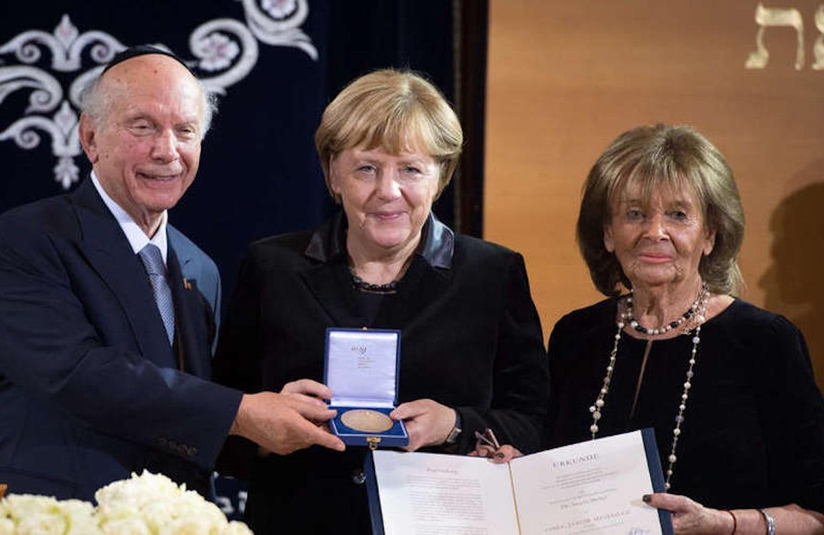 Charlotte Knobloch honors Angela Merkel for defending Jews and Israel