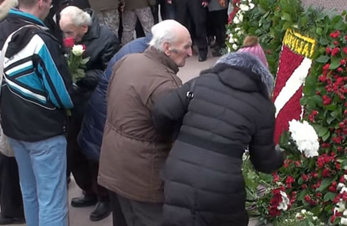 Controversial procession of Latvian Waffen SS veterans in Riga